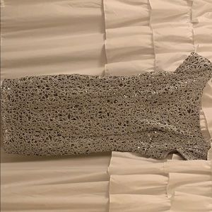 Silver sparkle cocktail dress